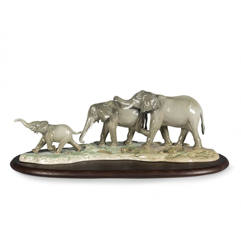 Elefante Portafortuna Golden Lotus
